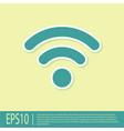 green wi-fi wireless internet network symbol icon vector image vector image
