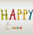 Happy Easter card with folded colored paper vector image vector image