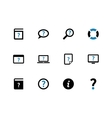 Help and FAQ duotone icons on white background vector image vector image