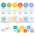 information set of icons vector image