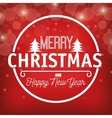 lettering christmas and happy new year graphic vector image