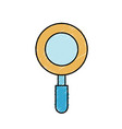magniifying glass object and school tool vector image vector image
