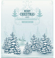 Merry Christmas forest winter landscape vector image vector image