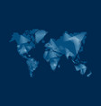 modern digital world map technology concept design vector image vector image