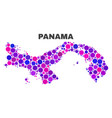 mosaic panama map of spheric items vector image vector image