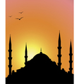 Mosque and sunrise vector image vector image