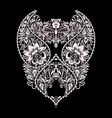 neckline paisley design floral pattern vector image vector image