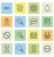 network icons set collection of obstacle bell vector image vector image