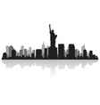 new york usa city skyline silhouette vector image vector image