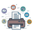 office and business elements concept vector image vector image