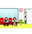 people come to see doctor in hospital vector image