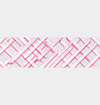 pink and white stripes abstract tech banner vector image vector image