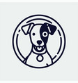 quality jack russell terrier dog monoweight vector image