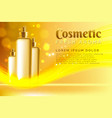 realistic template cosmetic package spray vector image