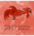 red rooster symbol of 2017 vector image
