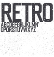 retro uppercase font vector image