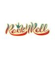 rock n roll logotype vector image