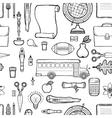 School seamless monochrome kids doodle pattern vector image vector image