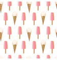 seamless pattern with ice cream vector image vector image