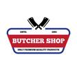 set butchery labels badges and design vector image