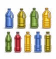 set colored big plastic bottles vector image vector image