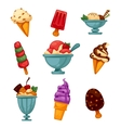 Set of colorful tasty ice cream vector image vector image
