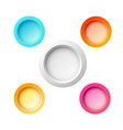 set of five colorful buttons vector image