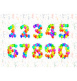 set of number symbols made up from bright colorful vector image vector image