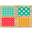 Set of vintage patterns polka dot vector image