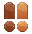 set wooden boards with different shapes vector image vector image