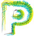Sketch font Letter P vector image