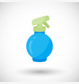 spray bottle flat icon vector image