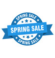 spring sale ribbon spring sale round blue sign vector image vector image