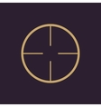 The crosshair icon Search symbol Flat vector image vector image