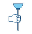 toilet pump tool vector image