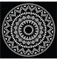 Tribal folk round Aztec geometric pattern on black vector image vector image