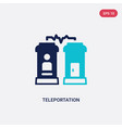 two color teleportation icon from future vector image