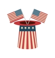 usa hat accessory vector image vector image
