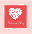 valentines day greetings card with pink background vector image