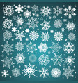 white snowflakes icon on gradient background vector image vector image