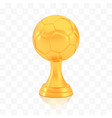 winner football cup award golden trophy logo vector image vector image