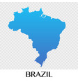 brazil map in south america continent design vector image