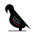 parrot silhouette vector image