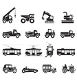 16 Transport Icon vector image vector image