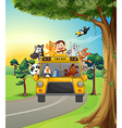 A group of animals travelling vector image vector image