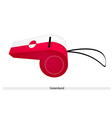 A White and Red Whistle of Greenland vector image vector image