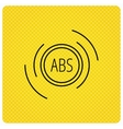 ABS icon Brakes antilock system sign vector image vector image
