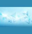 abstract blue technology digital hi tech concept vector image vector image