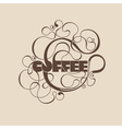 Abstract curly coffee label vector image vector image