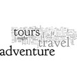 adventure travel tours vector image vector image